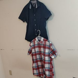 Lot of 2 Tommy Hilfiger shirts slim fit XL
